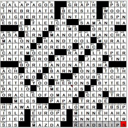 LA Times Crossword Answers 28 Oct 12, Sunday