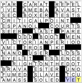 LA Times Crossword Answers 29 Oct 12, Monday