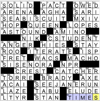 LA Times Crossword Answers 30 Oct 12, Tuesday