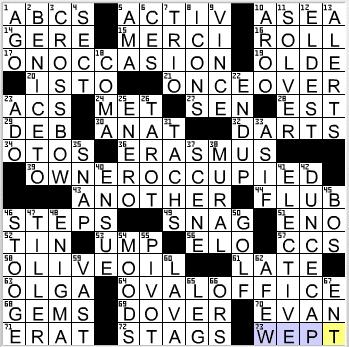LA Times Crossword Answers 31 Dec 12, Monday