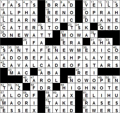 LA Times Crossword Answers 30 Apr 16, Saturday