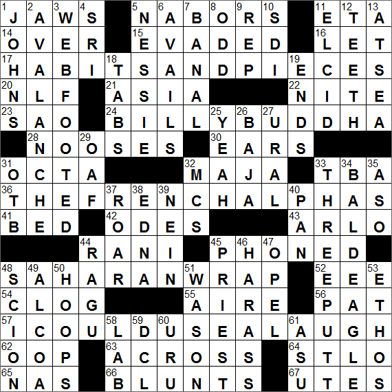 LA Times Crossword Answers 22 Jul 16 Friday  sc 1 st  LAXCrossword.com & Pyle player crossword clue Archives - LAXCrossword.com 25forcollege.com