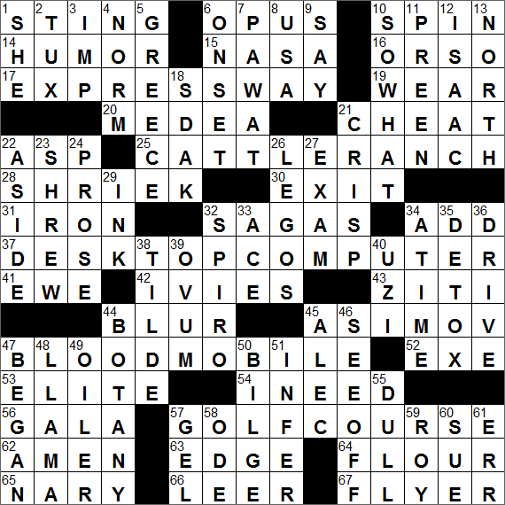 Term paper abbr. crossword puzzle clue