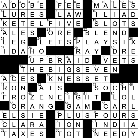 play let crossword clue