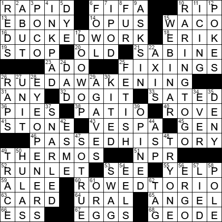 Piaggio transport crossword clue Archives - LAXCrossword.com