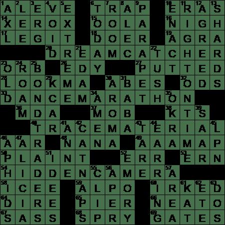 LA Times Crossword Answers 19 Jan 17 Thursday  sc 1 st  LAXCrossword.com & Naproxen brand crossword clue Archives - LAXCrossword.com 25forcollege.com