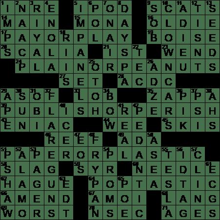 senior academic crossword clue