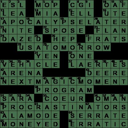 LA Times Crossword Answers 9 Feb 17 Thursday  sc 1 st  LAXCrossword.com & Actress Ramirez of