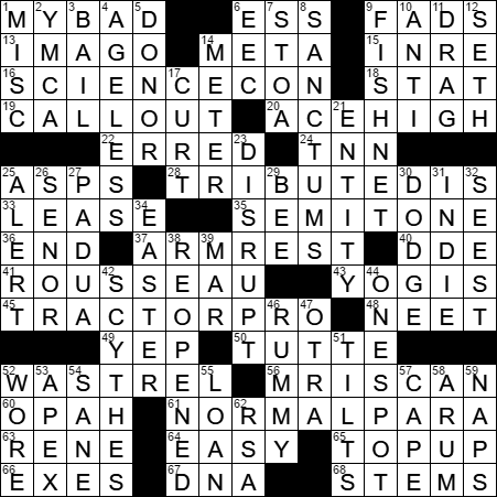 Actor Auberjonois crossword clue Archives - LAXCrossword.com