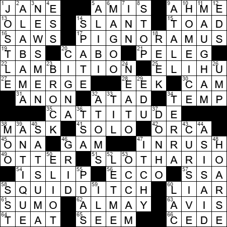 LA Times Crossword Answers 30 Jun 17 Friday  sc 1 st  LAXCrossword.com & Co-owner of the Pequod crossword clue Archives - LAXCrossword.com 25forcollege.com