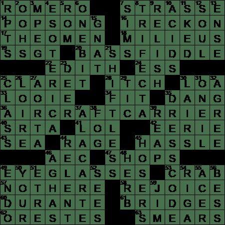LA Times Crossword Answers 27 Jul 2017 Thursday  sc 1 st  LAXCrossword.com & Dawn of the Dead