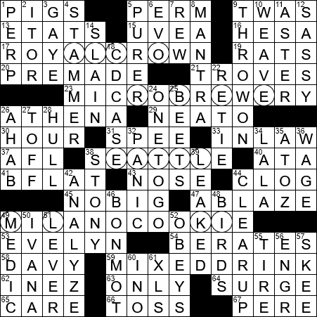 LA Times Crossword Answers 13 Sep 2017 Wednesday  sc 1 st  LAXCrossword.com & LA Times Crossword Answers 13 Sep 2017 Wednesday - LAXCrossword.com 25forcollege.com