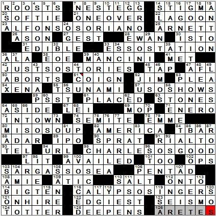 LA Times Crossword Answers 23 Sep 12, Sunday