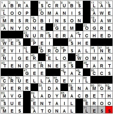 LA Times Crossword Answers 25 Sep 12, Tuesday
