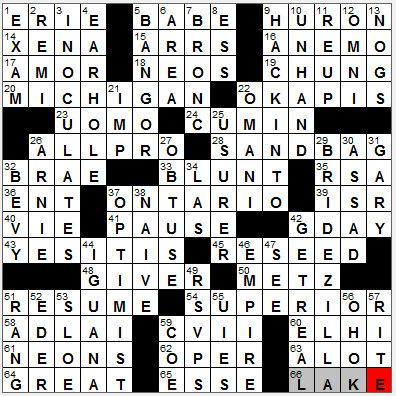 LA Times Crossword Answers 27 Nov 12, Tuesday