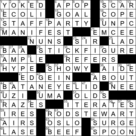Spritelike crossword clue Archives - LAXCrossword.com