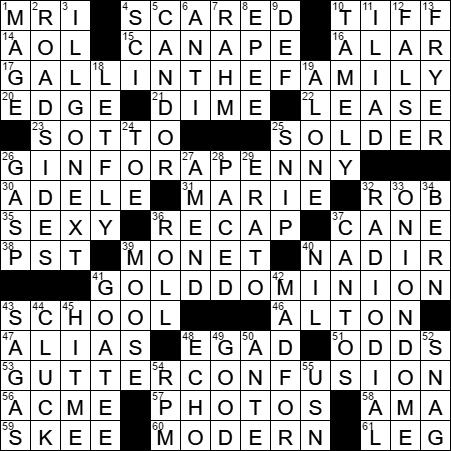 Field of three nobel prizes crossword clue