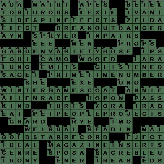 Meredith greys half sister on greys anatomy crossword clue la times crossword answers 19 feb 17 sunday ccuart Choice Image