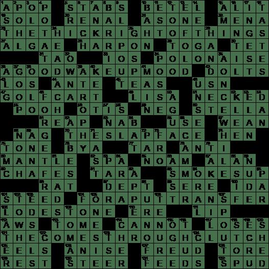 Ante dating crossword