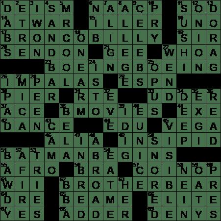 2005 christian bale superhero thriller crossword clue for Farcical crossword clue