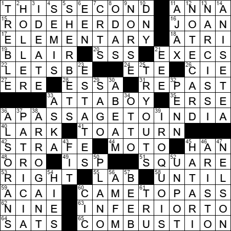 Eleanor roosevelts real first name crossword clue archives la times crossword answers 6 may 17 saturday m4hsunfo