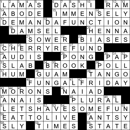 Historical dating abbr crossword