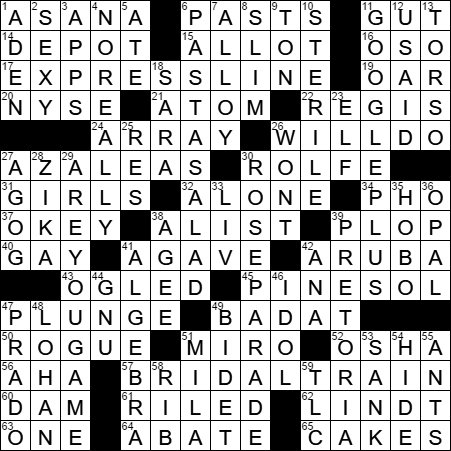 LA Times Crossword Answers 1 Aug 2017 Tuesday