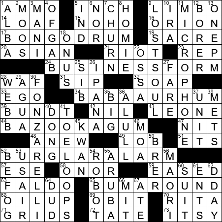 Cake soaked in alcoholic syrup crossword clue archives la times crossword answers 14 aug 2017 monday ccuart Choice Image