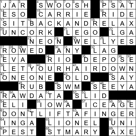 LA Times Crossword Answers 4 Sep 2017, Monday