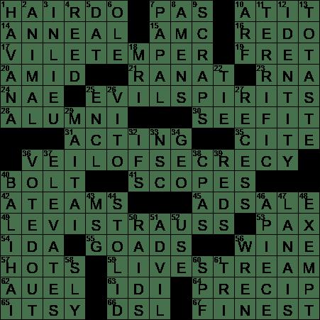 Corleone Family Head Crossword Clue Archives LAXCrosswordcom - Bun hairstyle crossword clue