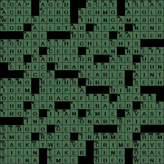 La Times Crossword Answers 10 Sep 2017 Sunday Laxcrossword