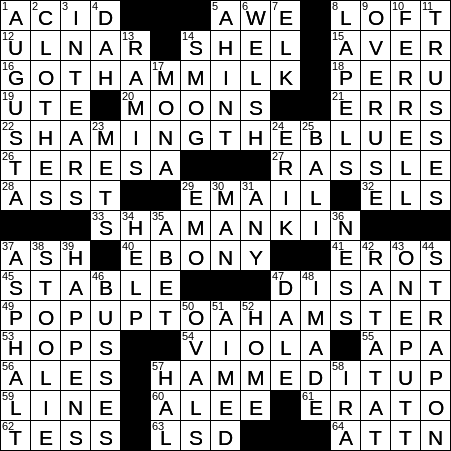Sexually arousing crossword clue