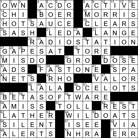 band name with a lightning bolt slash crossword clue archives
