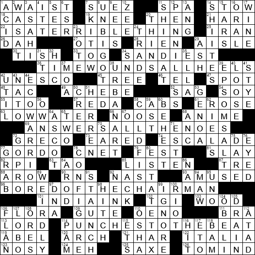 LA Times Crossword Answers 19 Nov 2017 Sunday