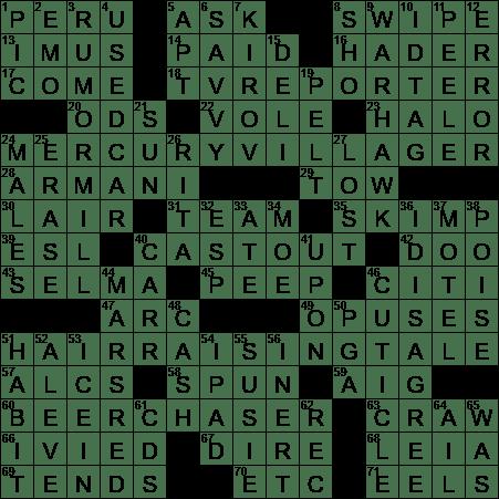 El Mistis Land Crossword Clue Archives Laxcrossword