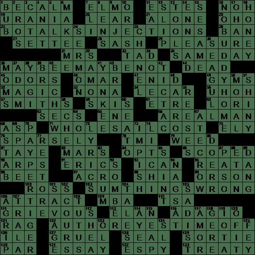 Sexual love crossword clue