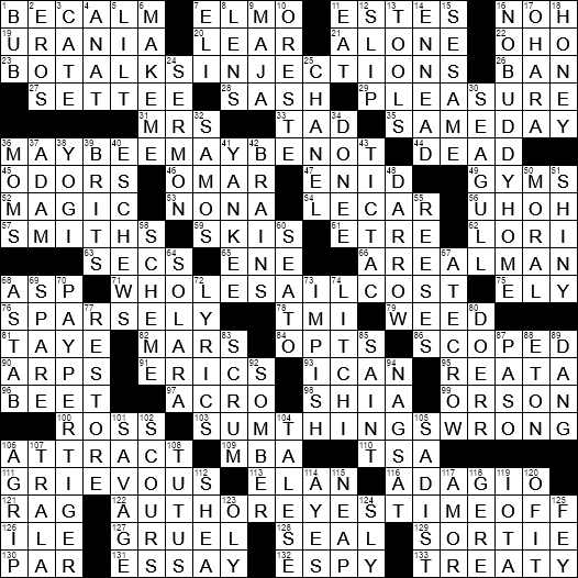 LA Times Crossword Answers 17 Dec 2017, Sunday