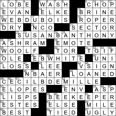 recipe: have a wash crossword clue [34]