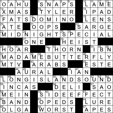 Lorelei for one crossword clue Archives - LAXCrossword com