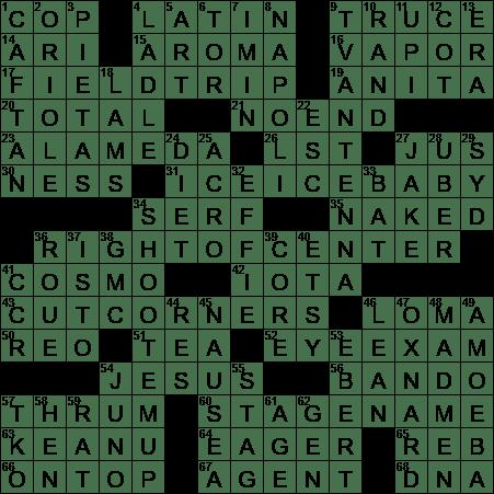 basilica area crossword clue