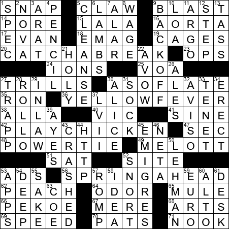 la times crossword answers 6 mar 2018, tuesday - laxcrossword