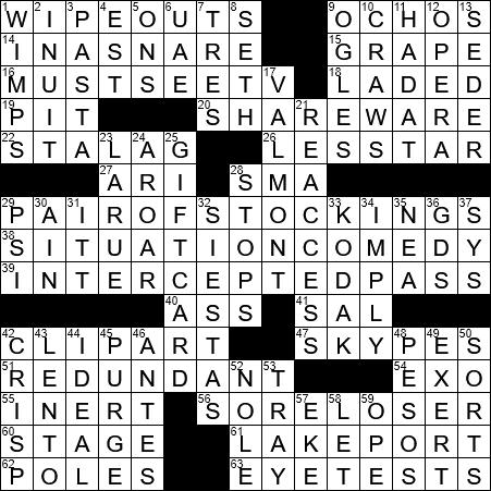 Event On A Fall Highlight Reel Crossword Clue Archives Laxcrossword Com