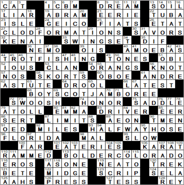 La Times Crossword Answers 6 May 2018 Sunday Laxcrossword