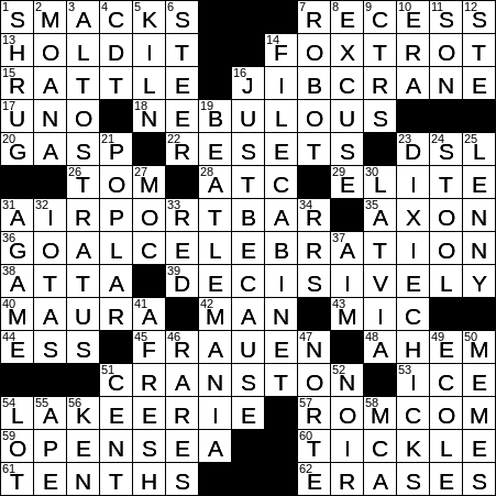 Has A Suggestion Of Crossword Clue Archives Laxcrossword Com
