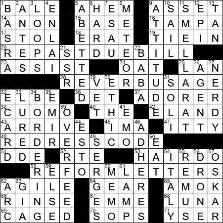 recipe: have a wash crossword clue [17]