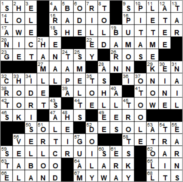La Times Crossword Answers 11 May 2018 Friday