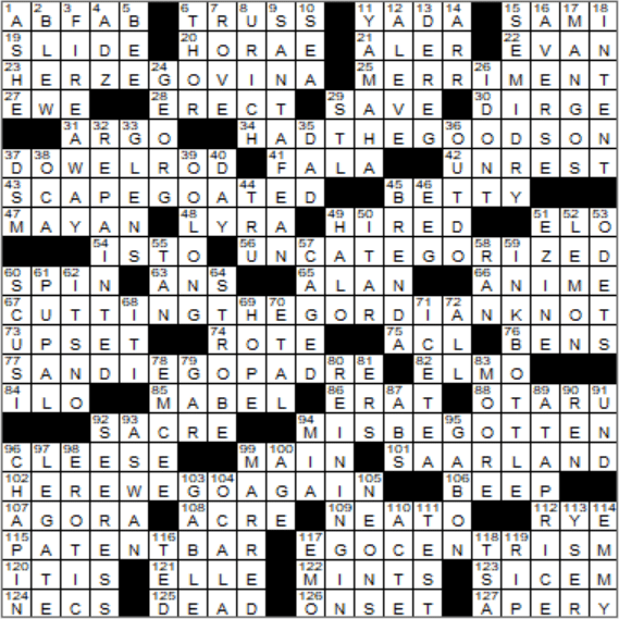 Jennifer Saunders Britcom Crossword Clue Archives Laxcrossword Com