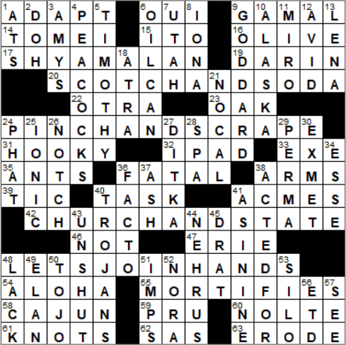 La Times Crossword Answers 29 May 2018 Tuesday Laxcrossword