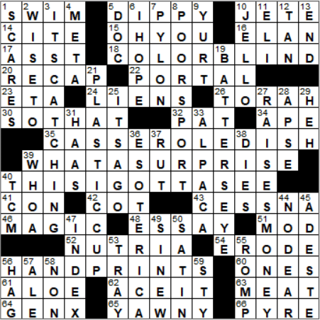 La Times Crossword Answers 9 Jun 2018 Saturday Laxcrossword Dancers