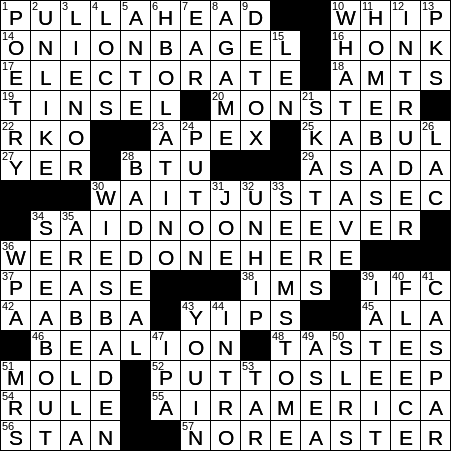 Having a great fondness for ones wife crossword clue